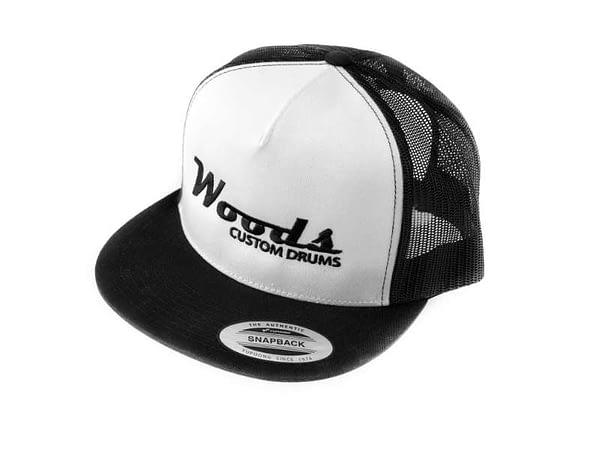 woods custom drums trucker hat merchandise