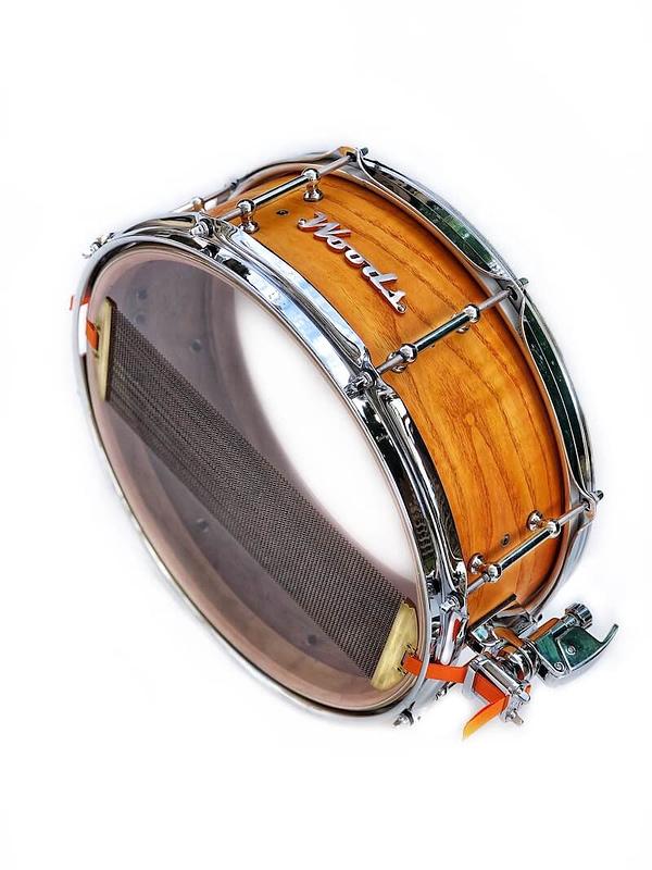 beautiful snare drum figured ash wood