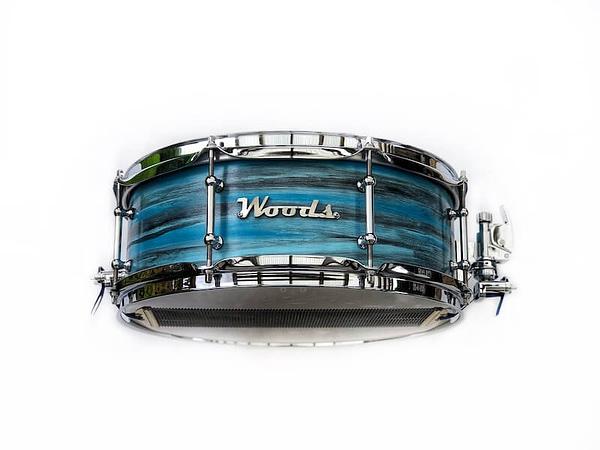 unique finish custom snare drum