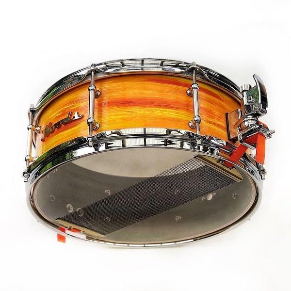 orange walnut snare drum