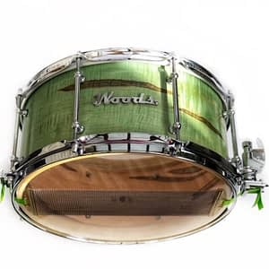 vintage style exotic maple snare drum