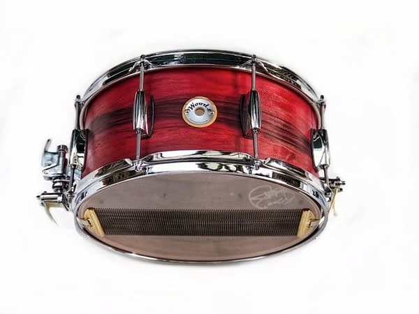 dyed rosewood snare drum Gretsch lugs