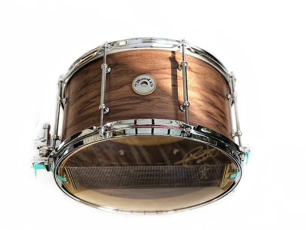 tall boy deep custom walnut snare drum