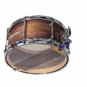 vintage style custom walnut snare drum
