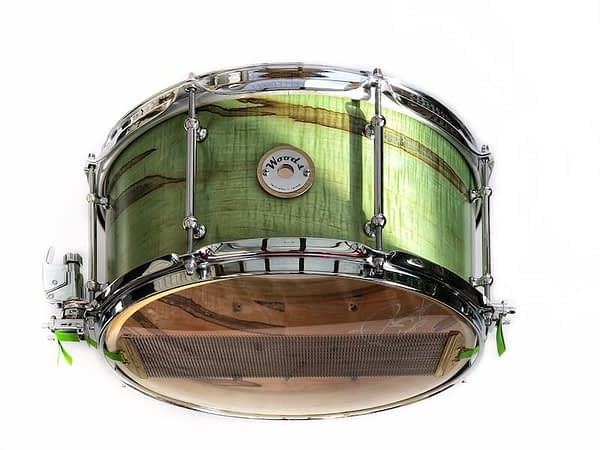 Figured Exotic Ambrosia Maple Snare Drum 14 x 7