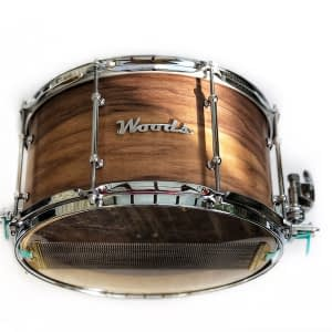 figured walnut 3 ply custom snare drum